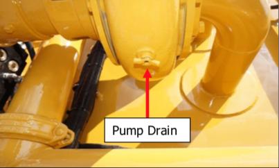 A water pump drain